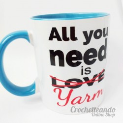 MUG LANERO - MOTIVO ALL YOU NEED IS YARM